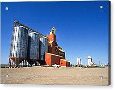 Grain Silos Saskatchewan Acrylic Print by Buddy Mays