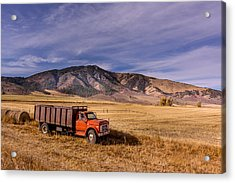 Acrylic Print featuring the photograph Grain Truck by Jeremy Farnsworth