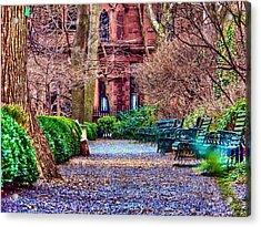 Gramercy Park Winter Acrylic Print by Jessica Stiles