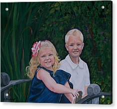 Grampa And Gramma's Joy  Acrylic Print by Sharon Duguay