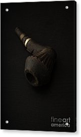 Gramps Old Wooden Pipe Acrylic Print by Edward Fielding