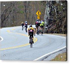 Gran Fondo Bike Ride Acrylic Print by Susan Leggett