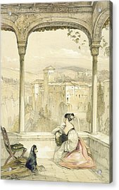 Granada , Plate 9 From Sketches Acrylic Print