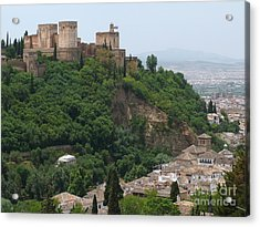 Granada - Alhambra Towers Acrylic Print by Phil Banks