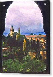 Granada Through The Keyhole Acrylic Print by Spyder Webb