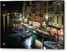 Grand Canal At Night. Venice Acrylic Print by Rostislav Bychkov