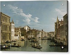 Grand Canal From Palazzo Flangini To Palazzo Bembo Acrylic Print by Canaletto
