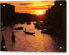 Grand Canal In Venice Acrylic Print by Yue Wang