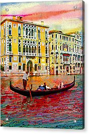 Grand Canal Acrylic Print by Steven Boone