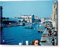 Grand Canal Venice 1961 Acrylic Print by Cumberland Warden