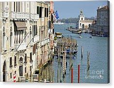 Grand Canal View From Academia Bridge Acrylic Print by Sami Sarkis