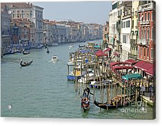 Grand Canal Viewed From Rialto Bridge Acrylic Print