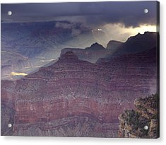 Grand Canyon - Clearing Storm Acrylic Print by Richard Berry