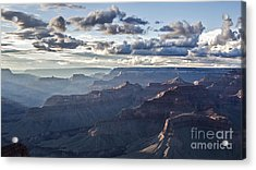 Grand Canyon At Sunset Acrylic Print by Shishir Sathe