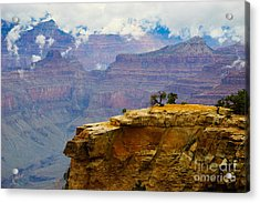 Grand Canyon Clearing Storm Acrylic Print by Terry Garvin