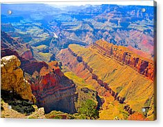 Grand Canyon In Vivid Color Acrylic Print