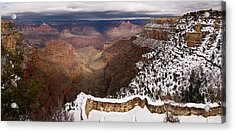 Acrylic Print featuring the photograph Grand Canyon In Winter by Brad Brizek