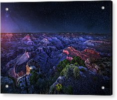 Grand Canyon Night Acrylic Print