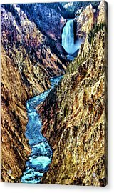 Acrylic Print featuring the photograph Grand Canyon Of The Yellowstone by Benjamin Yeager
