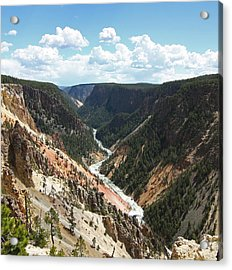Grand Canyon Of The Yellowstone Acrylic Print