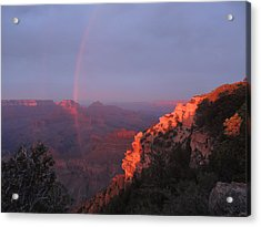 Grand Canyon Rainbow Acrylic Print
