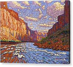 Grand Canyon Riffle Acrylic Print by Bryan Allen