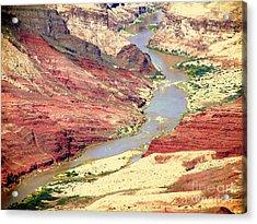 Grand Canyon River View Acrylic Print by John Potts