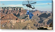 Acrylic Print featuring the painting Grand Canyon by Scott Listfield