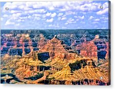 Acrylic Print featuring the painting Grand Canyon by Tracie Kaska