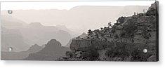 Grand Canyon Waking Up Bw Acrylic Print by Patrick Jacquet