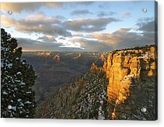 Grand Canyon. Winter Sunset Acrylic Print
