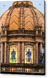 Grand Cathedral Of Guadalajara Acrylic Print by David Perry Lawrence