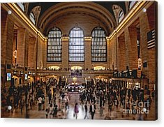 Grand Central Acrylic Print by Andrew Paranavitana