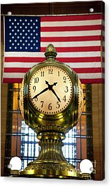 Grand Central Clock Acrylic Print by Brian Jannsen