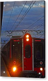 Grand Central Line Acrylic Print by Peter  McIntosh