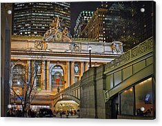 Grand Central Nocturnal Acrylic Print