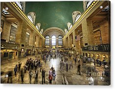 Grand Central Rush Acrylic Print