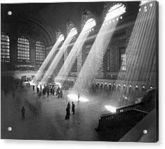 Grand Central Station Sunbeams Acrylic Print by Underwood Archives