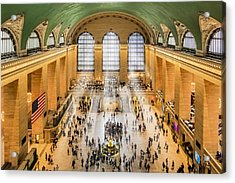 Grand Central Terminal Birds Eye View I Acrylic Print