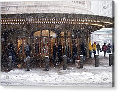 Grand Central Terminal Snow Color Acrylic Print