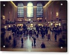 Grand Central Tilt Acrylic Print by Emmanouil Klimis