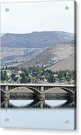 Acrylic Print featuring the photograph Grand Coulee Dam And Coulee City by E Faithe Lester