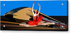 Grand Ecart Acrylic Print by Roby Marelly