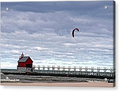Grand Haven Lighthouse 2 Acrylic Print by Cheryl Cencich