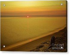 Grand Haven Sunset Acrylic Print