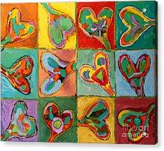 Grand Hearts Acrylic Print by Kelly Athena