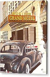 Grand Hotel East Berlin Germany Acrylic Print by Paul Guyer