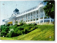 Grand Hotel Mackinac Island Ll Acrylic Print by Michelle Calkins