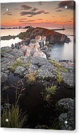 Grand Marais Harbor Acrylic Print by Thomas Pettengill