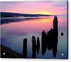 Grand Marais Sunrise  Acrylic Print by Rachel Ross